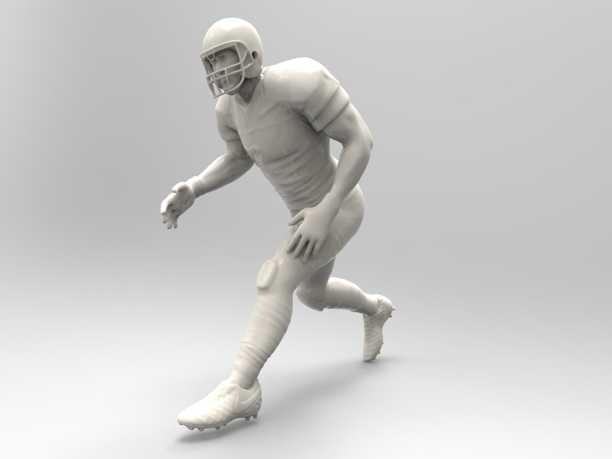 American footballer Pose