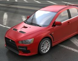 3d model VR / AR ready mitsubishi lancer evo 10