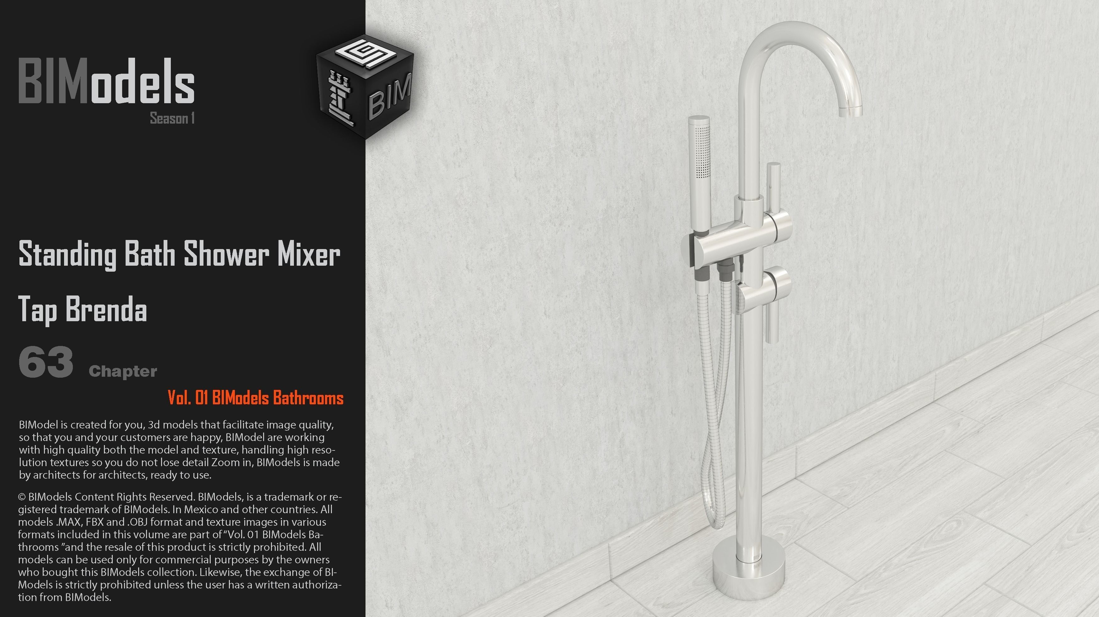 0163 Standing Bath Shower Mixer Tap Brenda