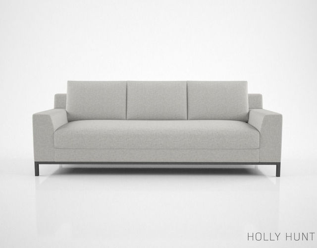 3d model holly hunt caspian sofa cgtrader for Sofa 3d model