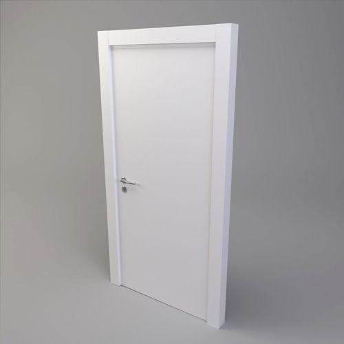 white door 3d model obj mtl 3ds fbx dae 1