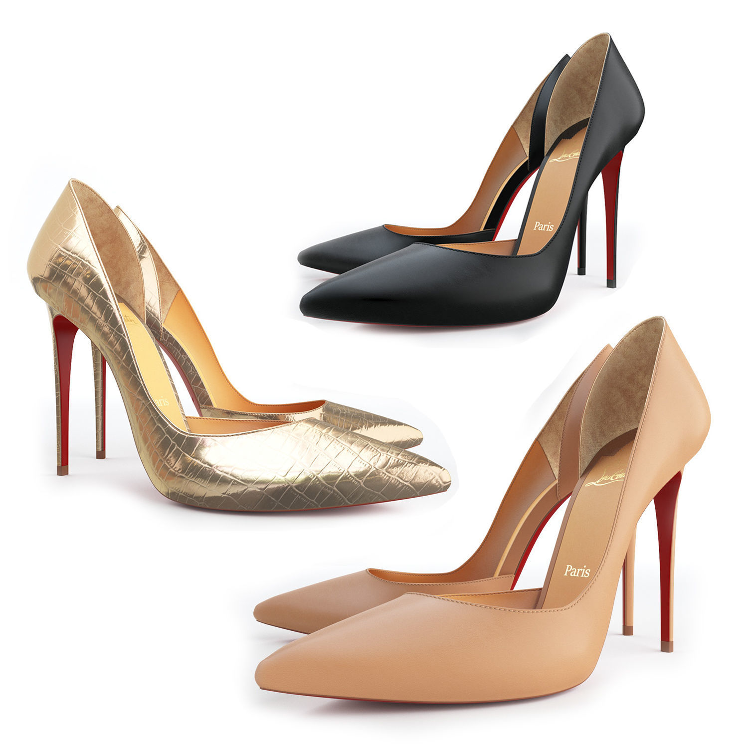 Christian Louboutin Patent Rolando in Nude (Natural) - Lyst