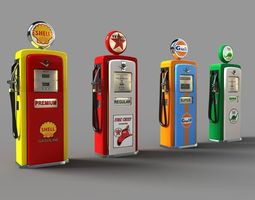 3d old gas pumps