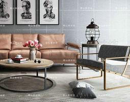 Modern Furniture Set 3D living lounge-chair