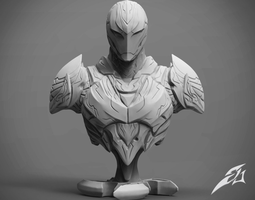 The Dark Armor Bust 3D print model