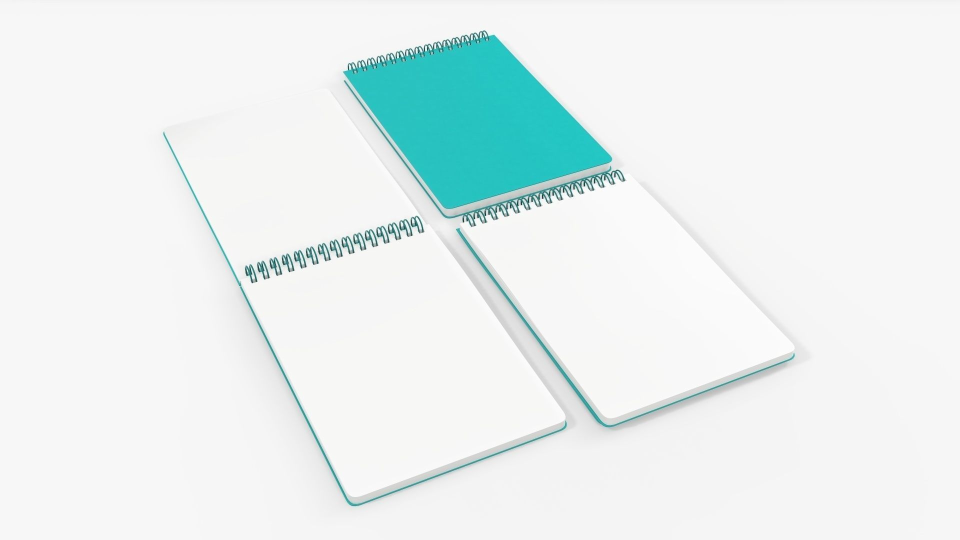 Sketchbooks with spiral on top open close