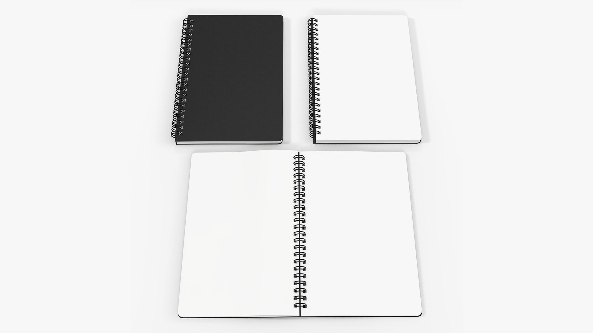 Sketchbooks with spiral on side open close