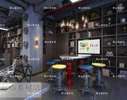 modern furniture set 029 3d model