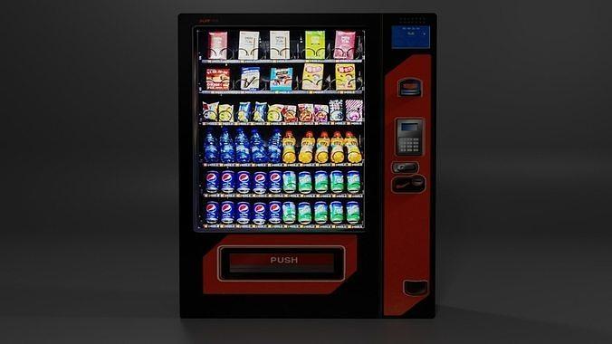 Low Poly Vending Machine