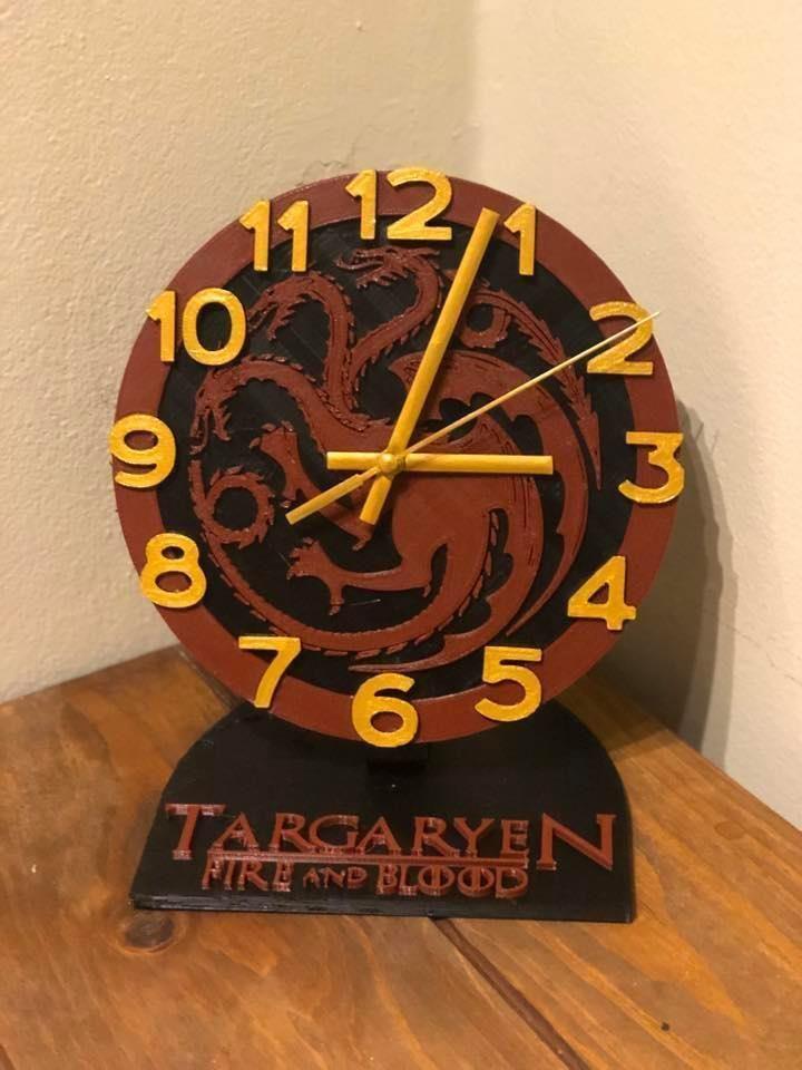 House Targaryen office Clock