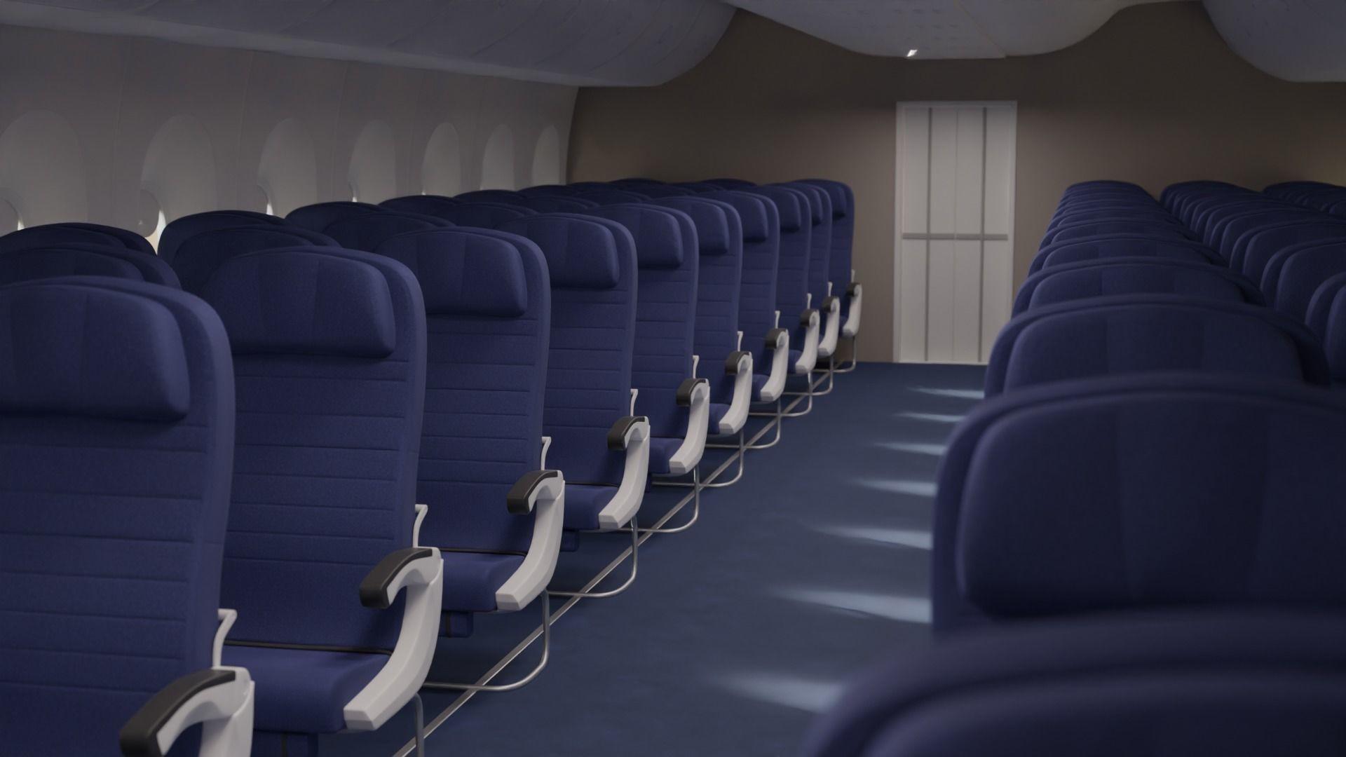 Boeing 747 Airplane Economy Seats