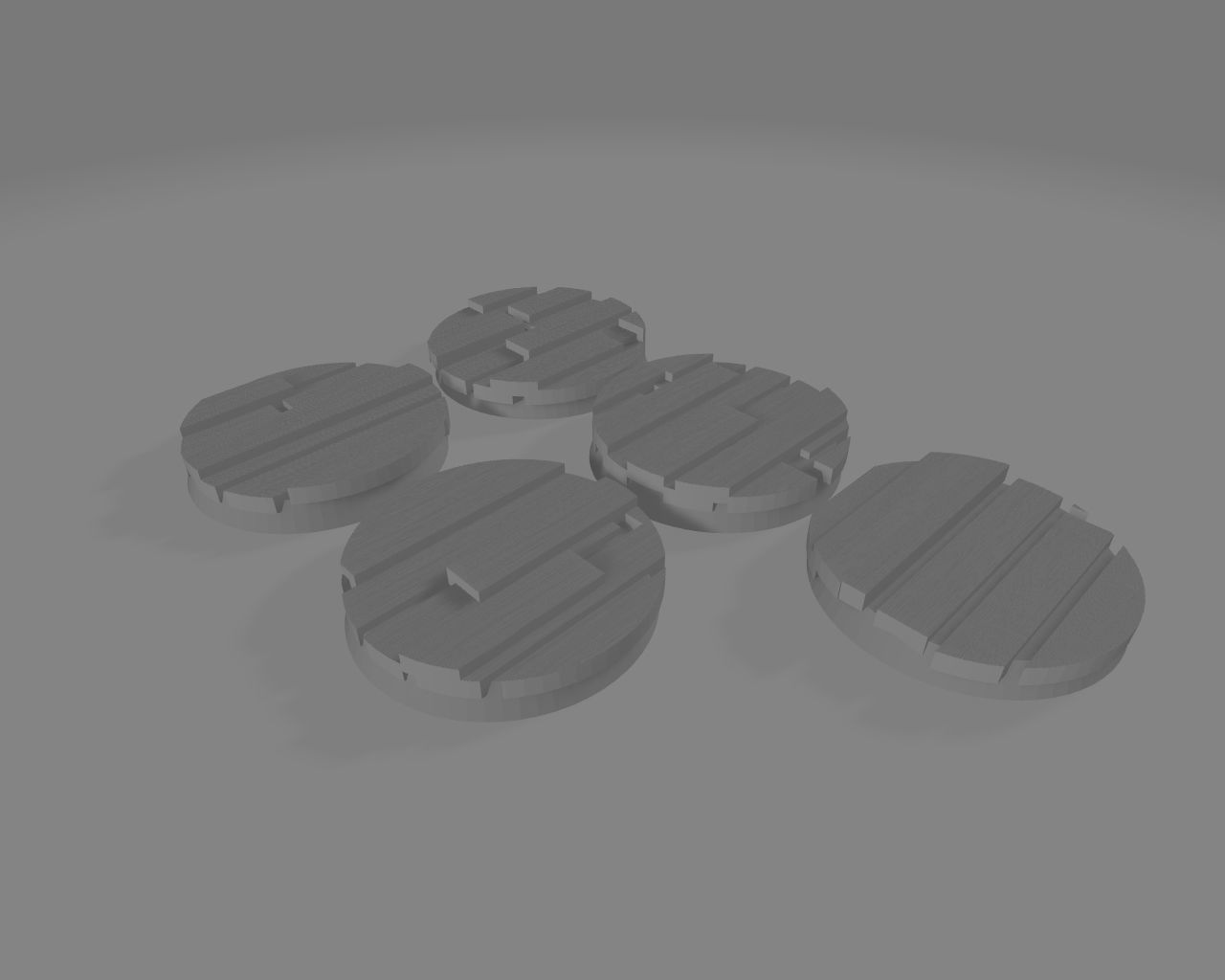 25mm Bases Trench motive