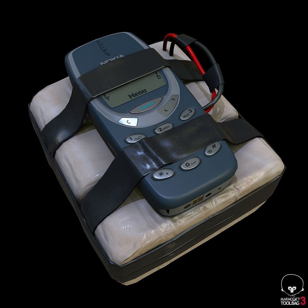 improvised explosive device with cellphone detonator