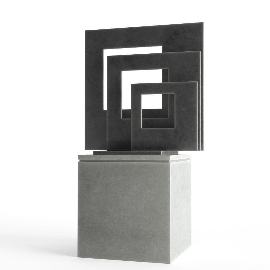 Modern Decorative Abstract Metal Art Sculpture 01