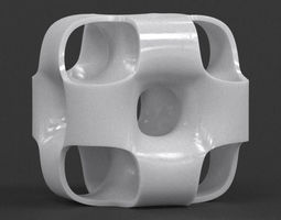 Ported Cube Sculpture 3D print model