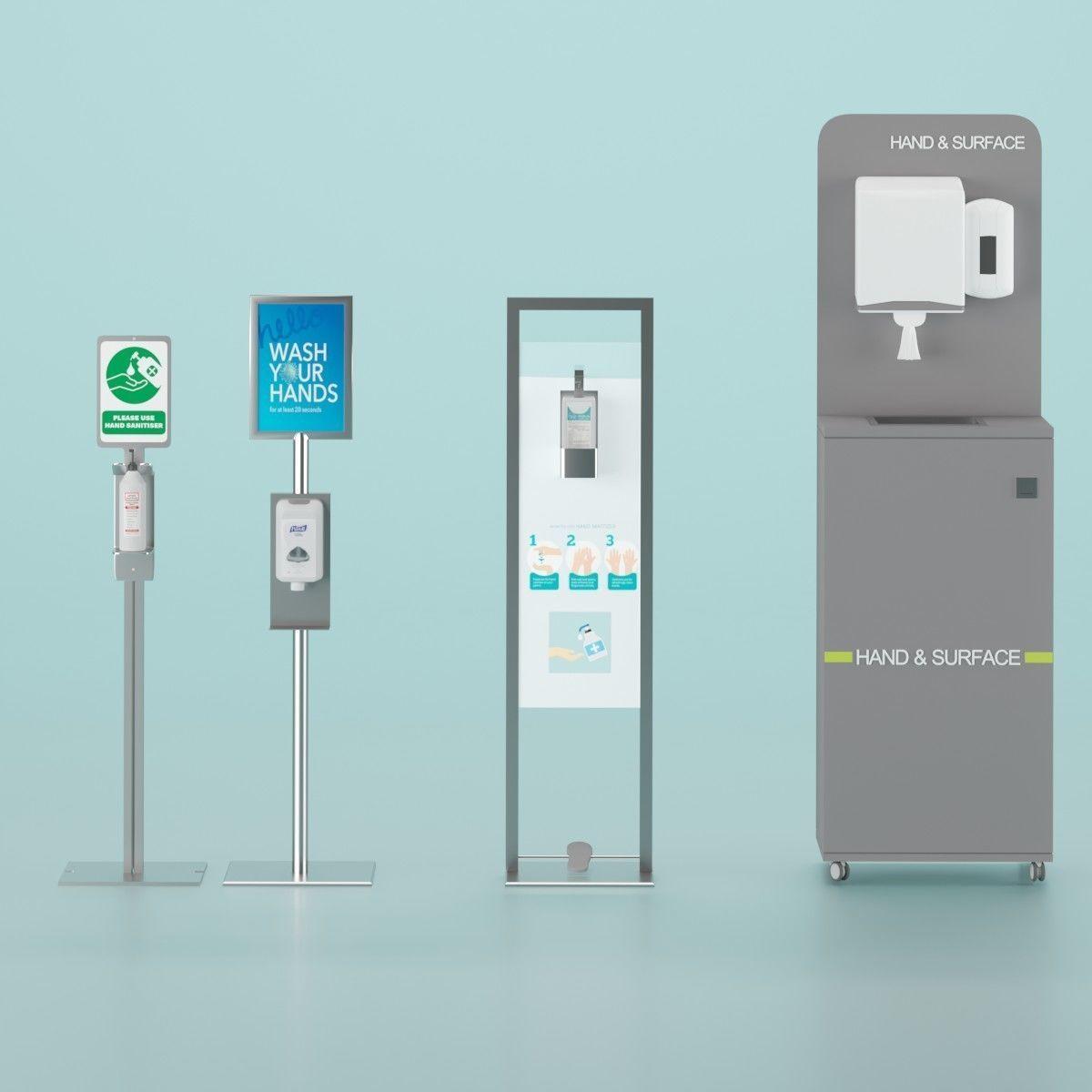 Sanitizer Stand Set
