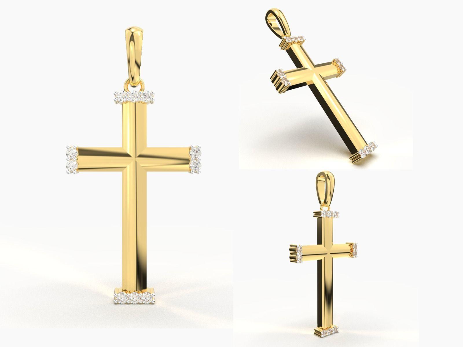 JESUS CROSS DIAMOND PENDANT