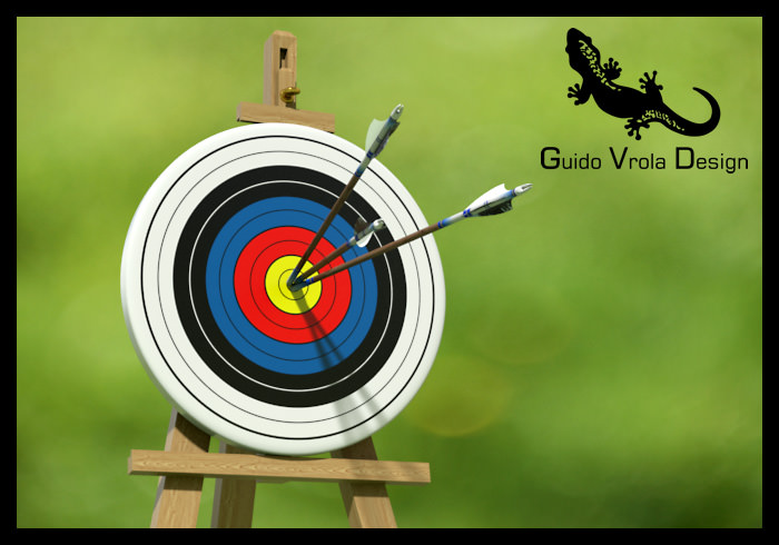 Target with arrows in the center