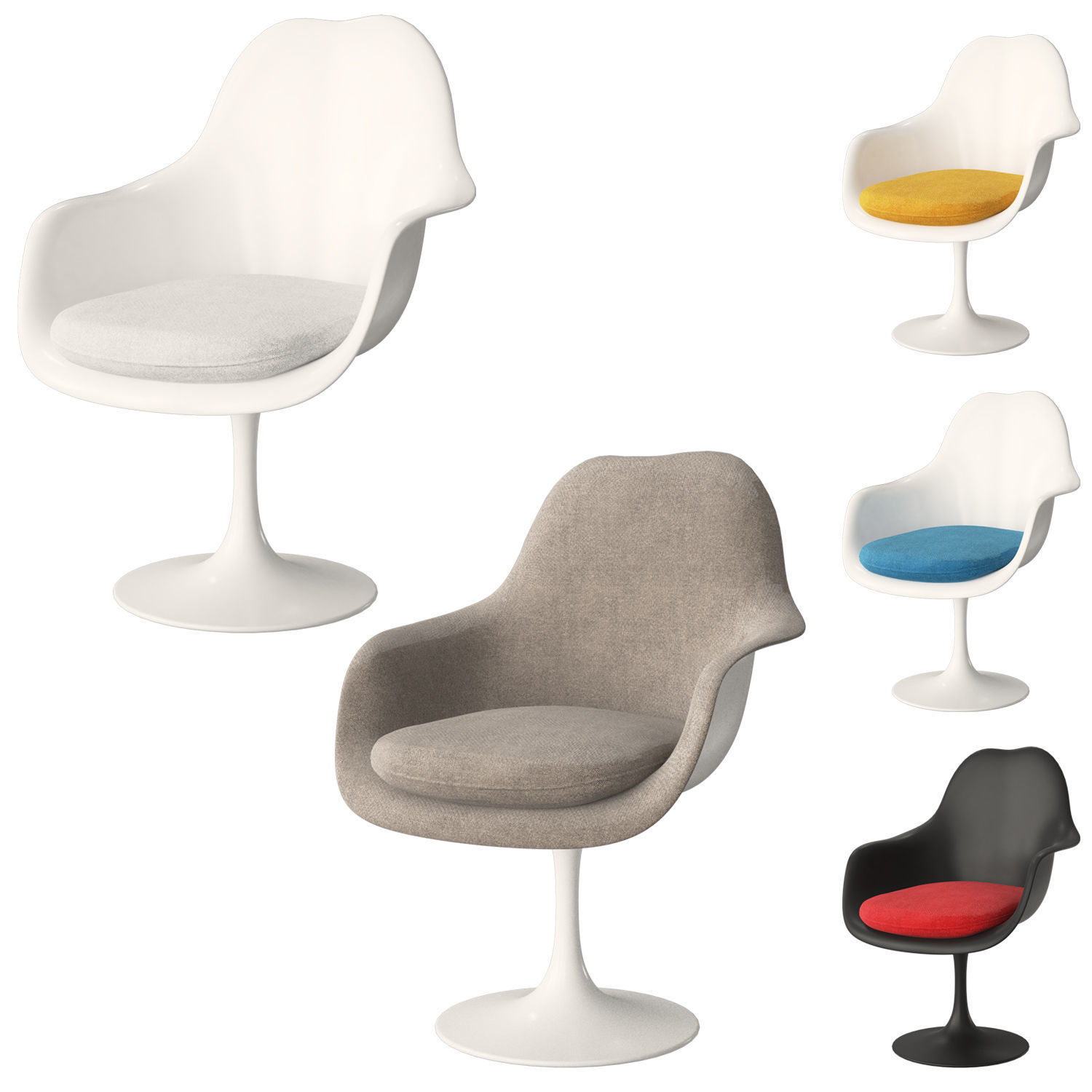 Knoll Tulip Chair Armless