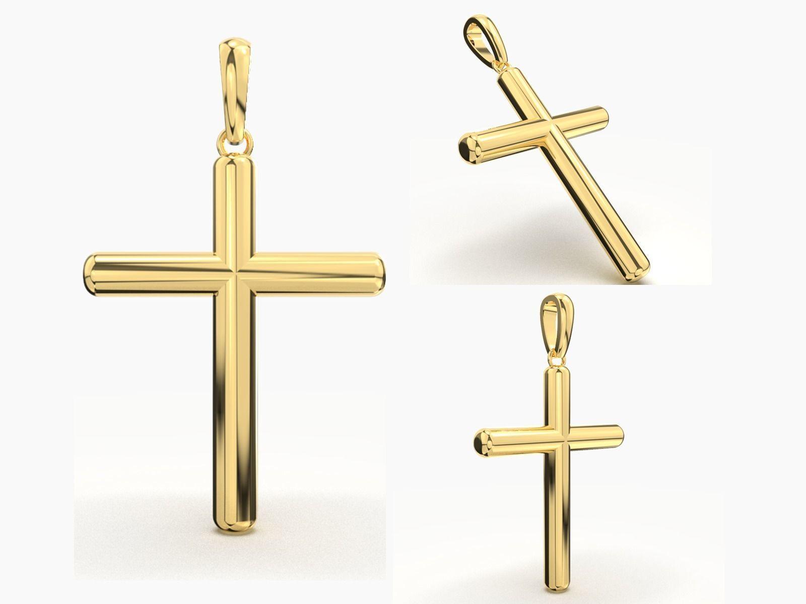 JESUS CROSS GOLD PENDANT