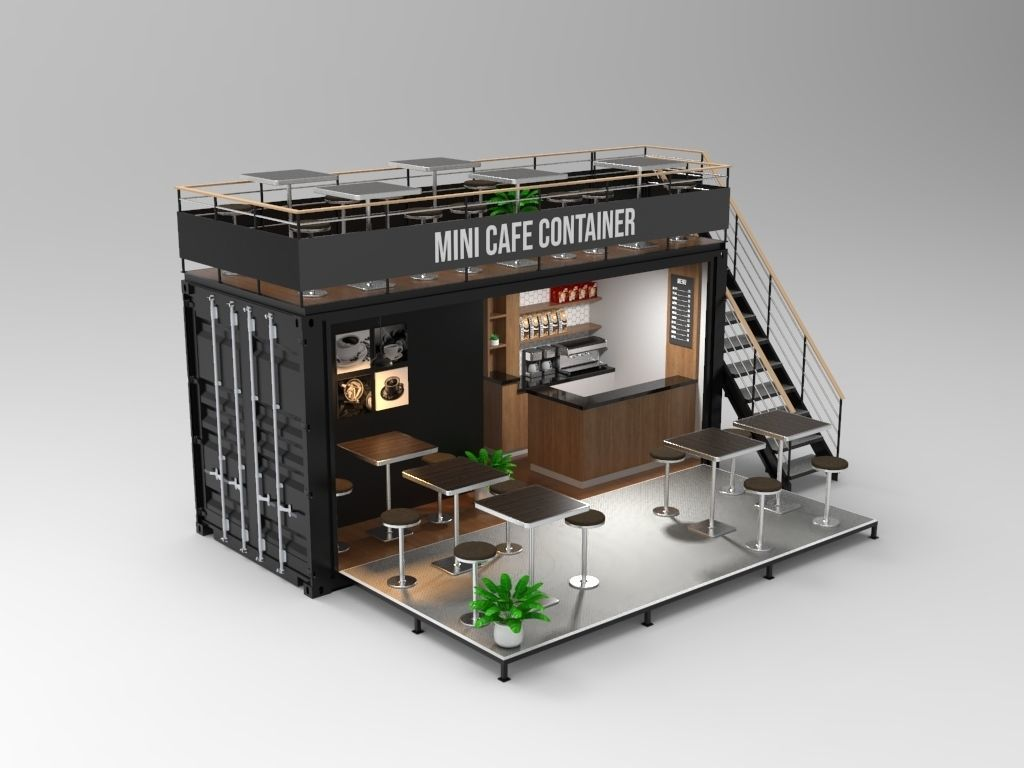 Mini Cafe Container 3d Cgtrader