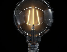 LED Filament Bulb 04 3D Model
