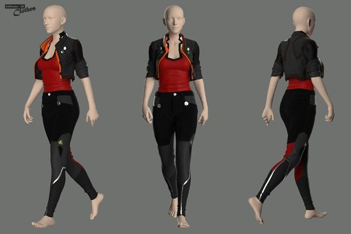 Sci-Fi Jacket with Pants - 52 Marvelous Designer and Clo3D