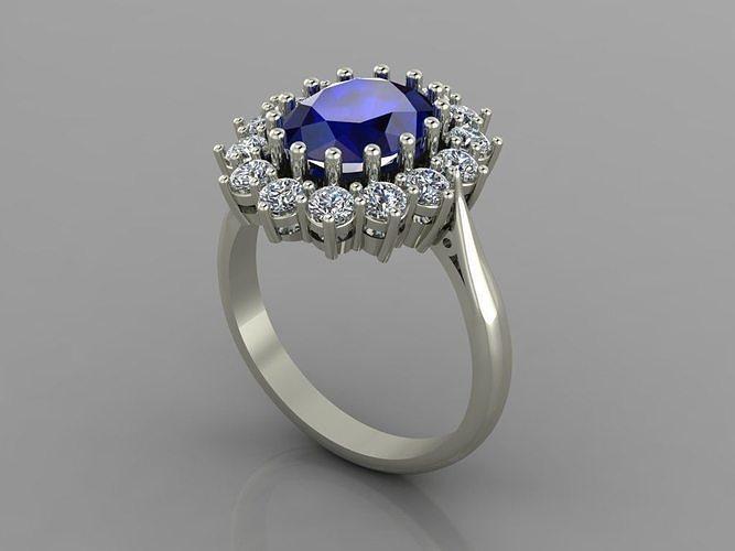 Princess Diana  Ring with diamonds