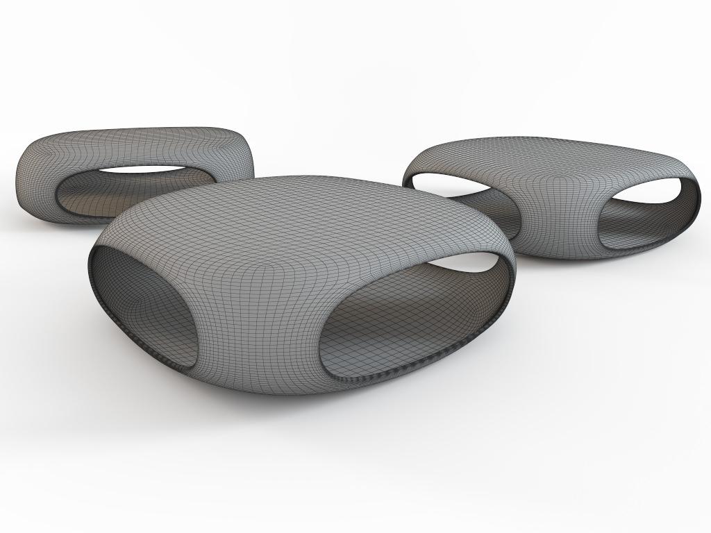coffee table pebble bonaldo 3d model max