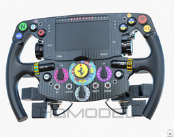 realtime sf15-t steer wheel ferrari f1 pbr 3d asset