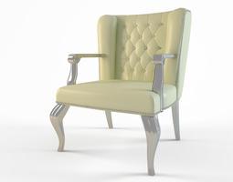 Desk chair 3D model seater