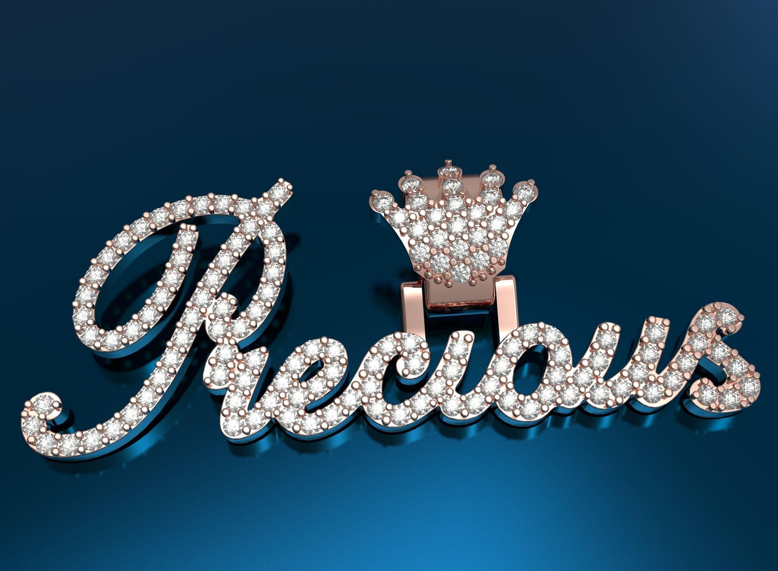Precious pendant