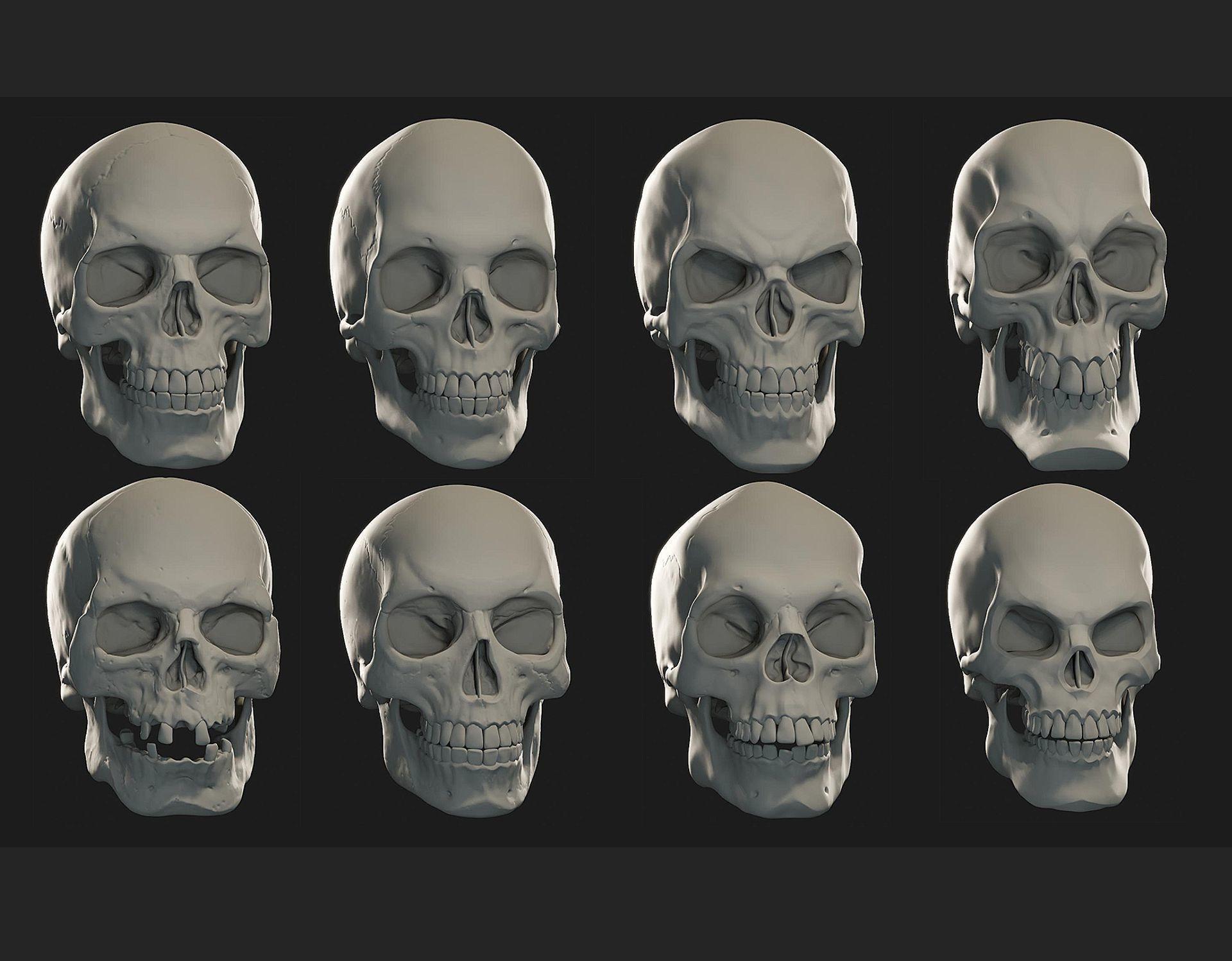 Skulls sculpt pack