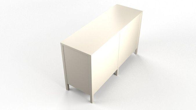 niche 6-drawer dresser - white 3d model max 1