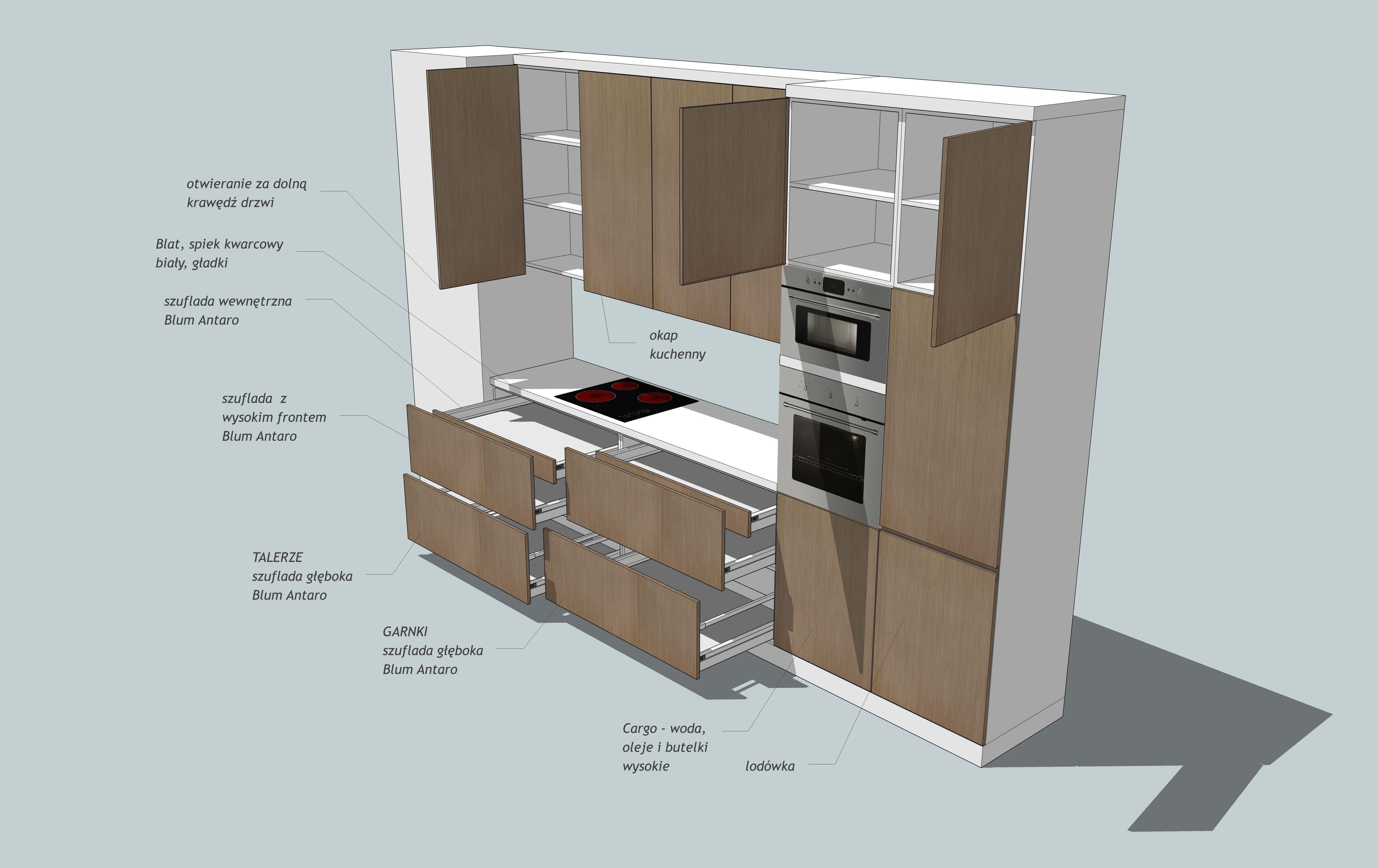 Kitchen 03 free 3d model skp for Model kitchen
