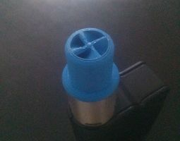3d printable model wide bore drip tip with spiral insides