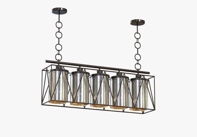 Currey marmande rectangular chandelier 3d model cgtrader aloadofball Images