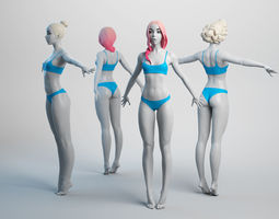 Female Basemesh 03 3D model