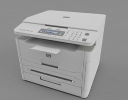 laser printer HP 3D model