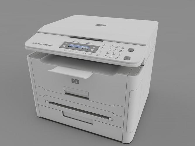 Laser Printer Hp 3d Model Cgtrader