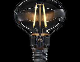 LED Filament Bulb 06 3D Model
