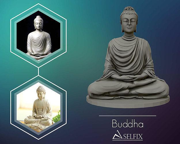 Buddha 3D sculpture