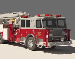 3d model rescue fire truck