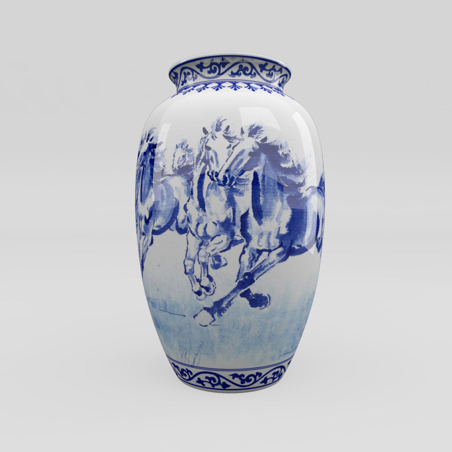 3d model chinese blue and white porcelain vase horses vr ar chinese blue and white porcelain vase horses 3d model max obj fbx c4d ma mb reviewsmspy