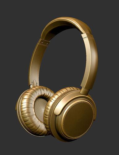 headphones 3d model obj mtl stl 1