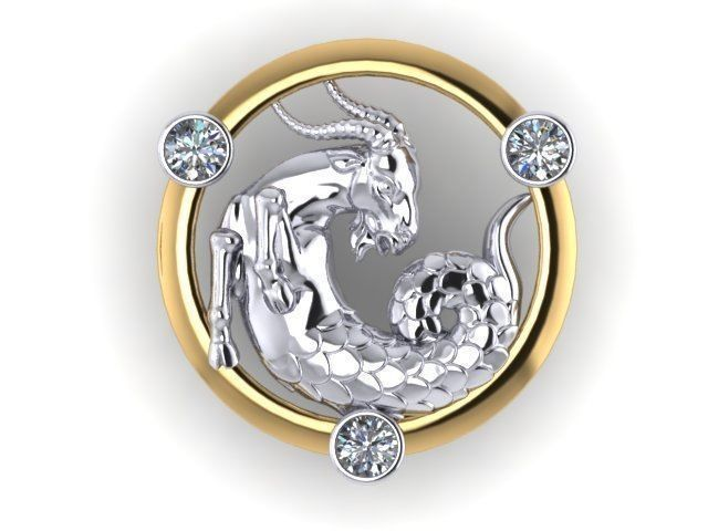 capricorn pendant jewelry model print stl pendants models cgtrader