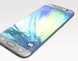 samsung galaxy s7 edge 3d model low-poly