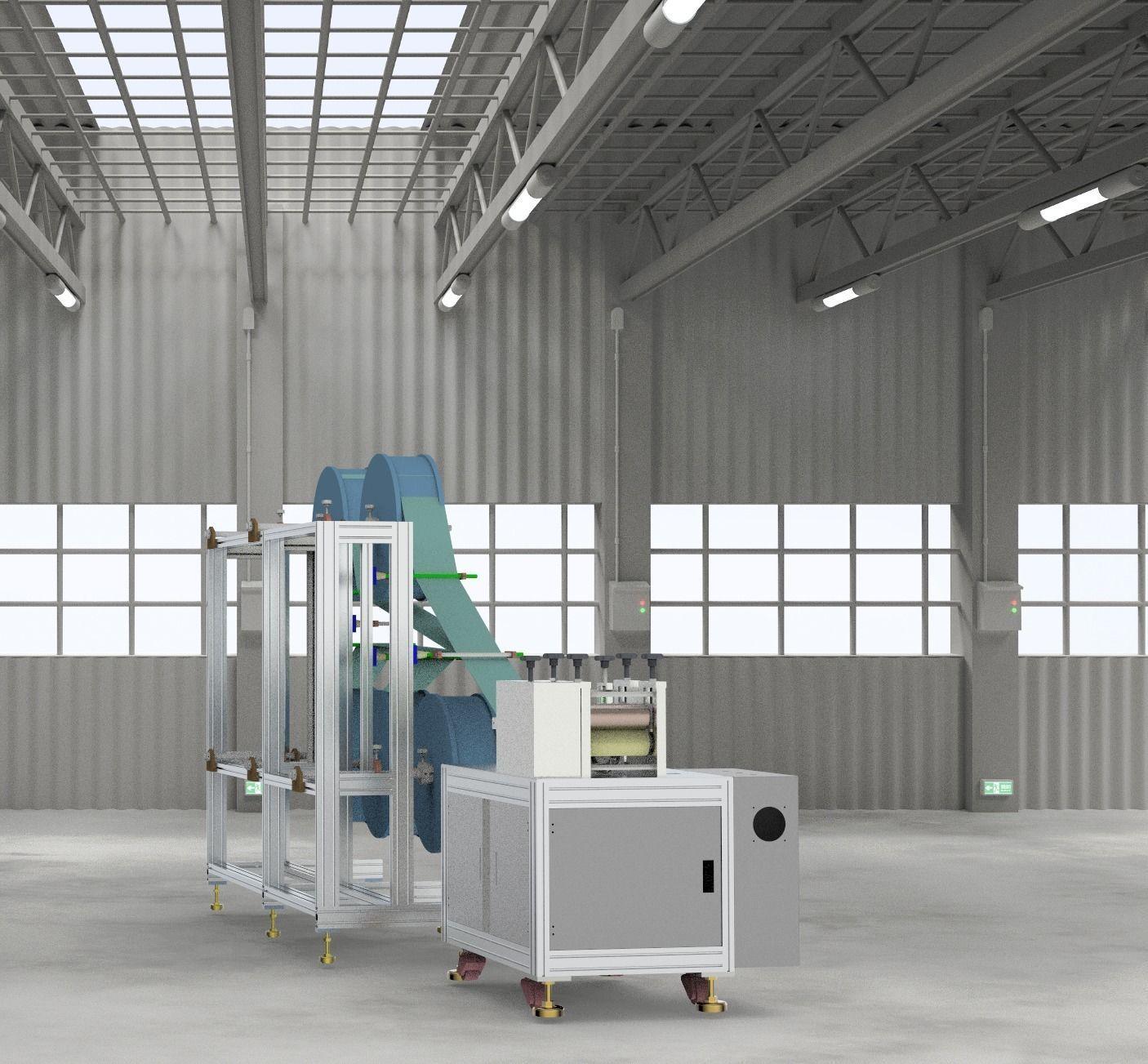 KN95 semi-automatic production machine