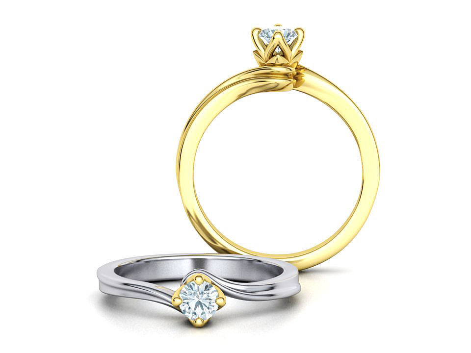 Paradise Solitaire Ring Four-Prong Setting 4mm Stone 3dmodel