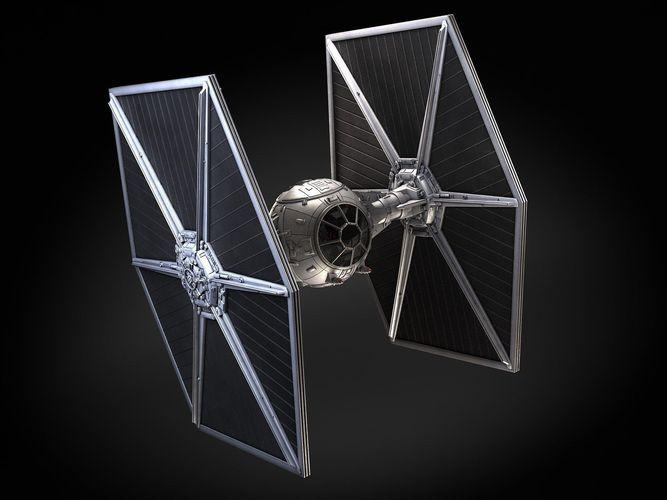 star wars tie fighter with interior 3d model max obj mtl 3ds fbx c4d lwo lw lws 1